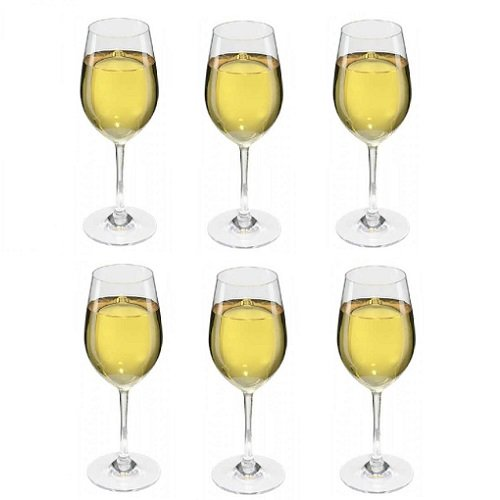 Viva Haushaltswaren–6Bicchieri da Vino Bianco, infrangibili/Bicchieri da Vino in plastica di Alta qualità (policarbonato) Circa 250ml