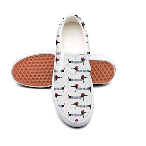 Cute cartoon dachshund Christmas white Tennis Shoes for Women Classic Comfortable and Lightweight Best Running Shoes