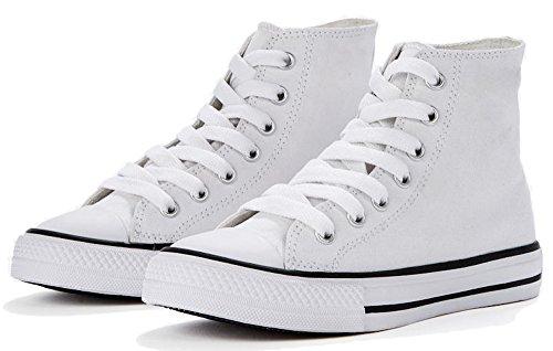 SG FOOTPRINTS Hohe Kinder Canvas Sneaker (31, Weiß)