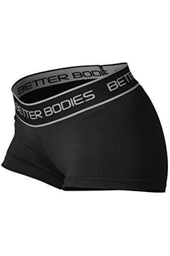 Better Bodies Damen Fitness Hotpant Sport Shorts, Schwarz (Black 999), 38 (Herstellergröße: Medium)