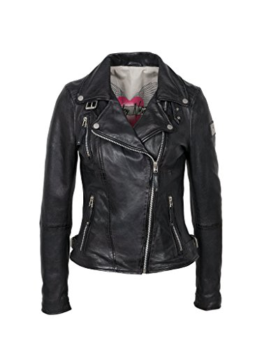 Freaky Nation Biker Princess Chaqueta, Negro (Shadow 9015), Medium par