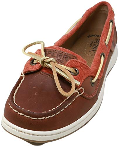Sperry Women's Angelfish Varsity Boat Shoe, Dark Brown/Rust Corduroy, 8.5