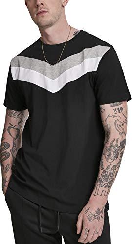 Urban s Herren ArrowPanel Regular Fit T-Shirt, Mehrfarbig (Black/Grey/White 00827), Small (Herstellungsgröße: S)