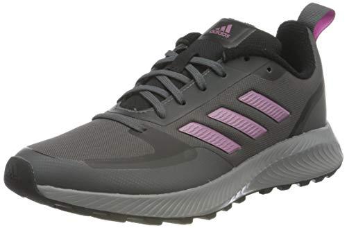 adidas Damen Runfalcon 2.0 TR Running Shoe, Grey/Cherry Metallic/Grey, 40 2/3 EU