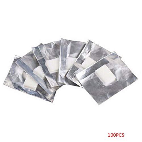 Babysbreath17 100pcs Papel de Aluminio Envolturas de uñas de Arte del cojín de algodón empapa del removedor de Esmalte en Gel acrílico Herramientas de eliminación