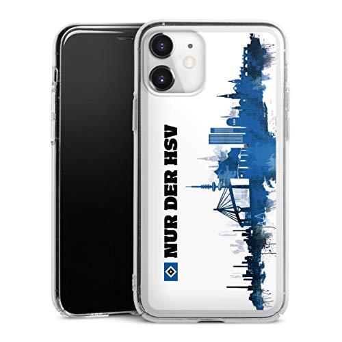DeinDesign Hard Case kompatibel mit Apple iPhone 11 Schutzhülle transparent Smartphone Backcover Offizielles Lizenzprodukt HSV Hamburger SV