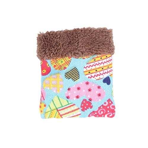 iplusmile Kuschelsack für Meerschweinchen, Hamster, warmer Schlafsack, für kleine Tiere, Fleece-Schlafsack für Igel, Kaninchen, Eichhörnchen, Größe L, 22,1 x 17 x 2 cm, zufällige Farbe