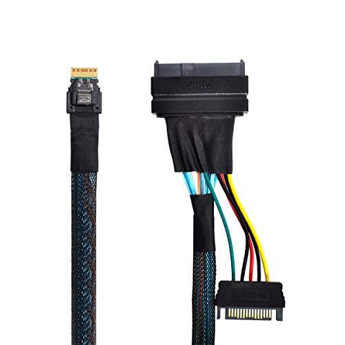 Xiwai U.2 U2 SFF-8639 auf Slimline SFF-8654 4i NVME PCIe SSD Kabel für Mainboard SSD 750 p3600 p3700 M.2