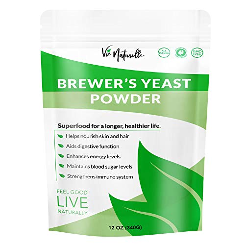 Brewers Yeast Powder - Powerful Health and Lactation Support Supplement - Key Nutritional Ingredient - Plant Based, NON-GMO, Non Bitter, Vegan Friendly - 12 oz