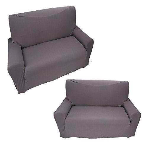 Dsrgwe Funda de Sofá 2 Plazas Easy Fit Stretch Sofa Slfa Slip Over Sofá Settee Fit Cover Them Putter Putter Grey