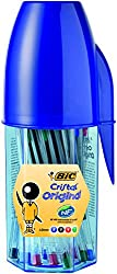 The world-renowned classic medium 1.0mm tip refillable ballpoint pen in hexagonal shape; still a familiar and comfortable friend Tungsten carbide ball ensures smooth flow of BIC ink, for writing with confidence and consistency BIC ink cartridges last...
