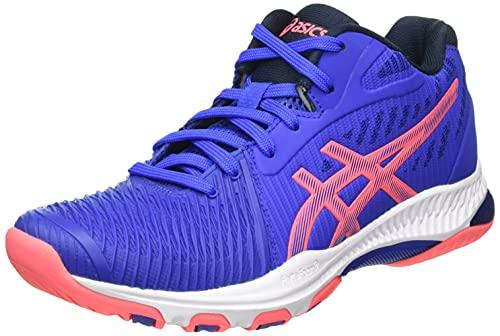 ASICS Damen Netburner Ballistic FF MT 2 Volleyball Shoe, Lapis Lazuli Blue/Blazing Coral, 41.5 EU