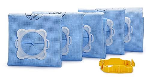 Rowenta Lot de 5 sacs Wonderbag Original, Compatibles avec des aspirateurs traineaux, Adapteur breveté universel, Très résistants, Haut pouvoir filtrant WB406120