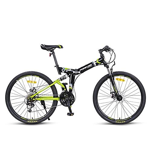 Freestyle Pieghevole Mountain Bike,Full Suspension Freni A Disco Pieghevole Bicicletta da Montagna,24 velocità Fuori-Strada velocità Variabile Corsa MTB,26'
