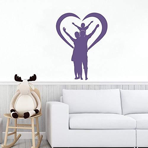 wZUN Pareja Amorosa e Hijo Pegatinas de Pared Dormitorio Familiar decoración de Arte de Pared 68X88cm