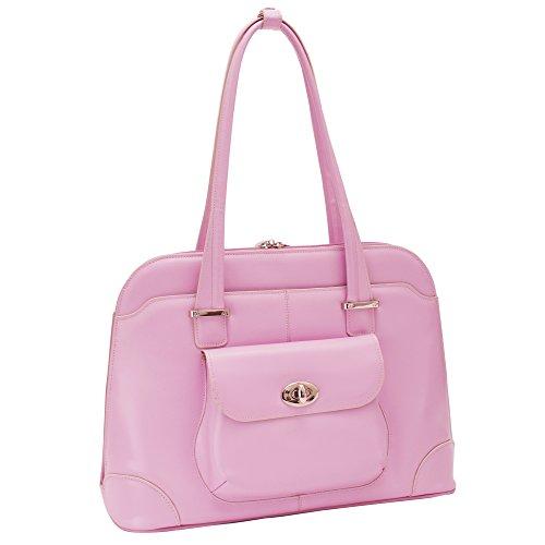 McKlein, W Serie, Avon, Top Grain Rindsleder, 15 Zoll Leder Damen Laptop Aktentasche Pink (96659)