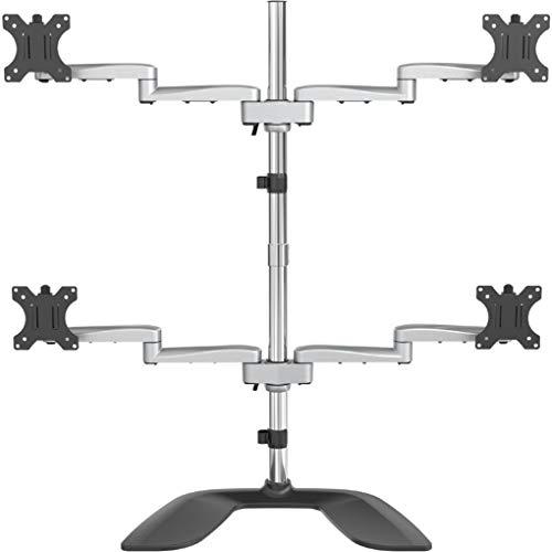 StarTech.com Desktop Quad Monitor Stand - Ergonomic VESA 4 Monitor Arm (2x2) up to 32' - Free...