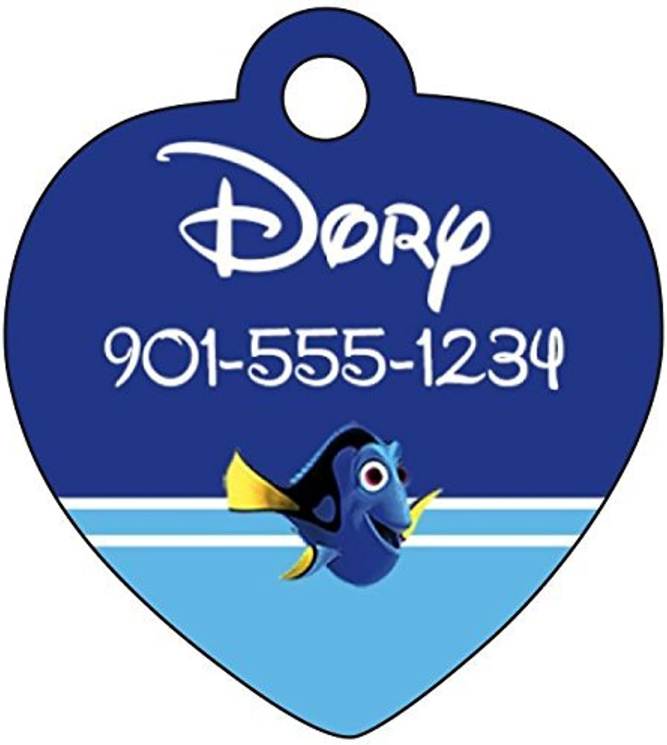 Disney Finding Nemo Dory Pet Id Tag for Dogs & Cats Personalized w  Name & Number