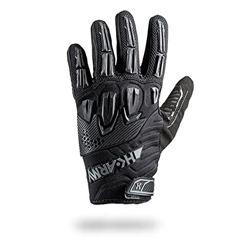 Full Finger Hardline Armored Gloves - Blackout - Small