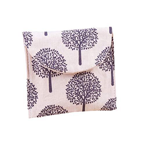 Cabilock Damenbinde Tasche Menstruationstuch Beutel tragbare Papier Handtuchhalter kleine Brieftasche Geldbörse für Home-Office-Reisen (zufällige Farbe)
