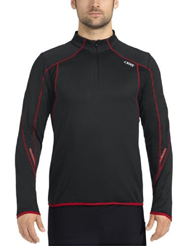 Rono Zip Manches Longues Keep Warm XC XXL Noir - Black/Fiery Red