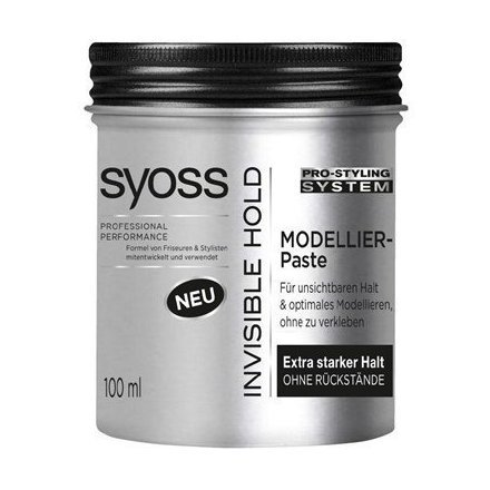 Syoss Invisible Hold - Hair Modelling Paste - 1 can - by Syoss of Germany