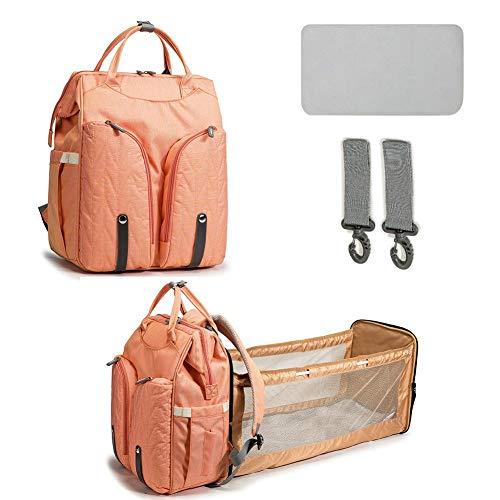 kelihood Rucksack Wickeltasche Mutter- und Babytasche Multifunktionsbett Große Kapazität Mutter- und Babytasche Muttertasche Klappbare Betttasche Wickeltasche mit Wickelstation