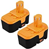 [Upgraded] 2 Packs 3600mAh 18V Ni-Mh Replacement Battery for Ryobi 18V Battery Compatible with Ryobi One+ P100 P101 ABP1801 ABP1803 BPP1820 Cordless Power Tools