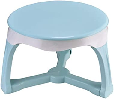 Children's Study Table Kindergarten Baby Learning Writing and Drawing Small Table,Kids Round Table,Environmentally Friendly Materials Boy and Girl Study Table (Color : Blue, Size : 53.5x36.5cm)