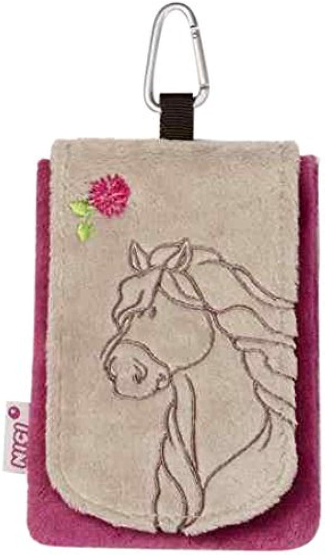 exclusivo Mobile phone bag Horse gris beige plush 13,5x9cm by Nici Nici Nici  alta calidad