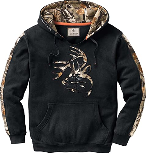 Legendary Whitetails Men's Standard Camo Outfitter Hoodie, Onyx, Small