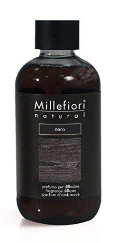 Millefiori Natural Ricarica per diffusore di fragranza per ambienti 250ml fragranza Nero