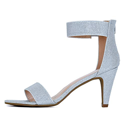 Guilty Shoes - Elysa-1 Silver Metallic, 8