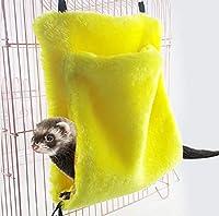 Barlingrockペット小動物ベッドハウス、ハムスター小人モルモット冬暖かい巣ラットオウム鳥柔らかい快適なハンギングスイングハンモックリスチンチラ洞窟ケージ睡眠プレイ休憩ケージマット