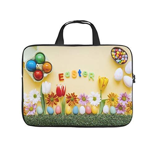 Funda para portátil con diseño de huevos de Pascua felices, resistente al desgaste, funda para portátil a medida para universidad, trabajo o negocios.