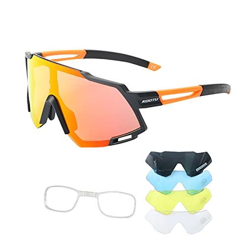 SAVADECK Gafas de sol polarizadas de Ciclismo de Bicicleta Hombres y mujeres Unisex Protección UV-400 Gafas de sol para bicicleta de carretera Bicicleta de montaña (Naranja)