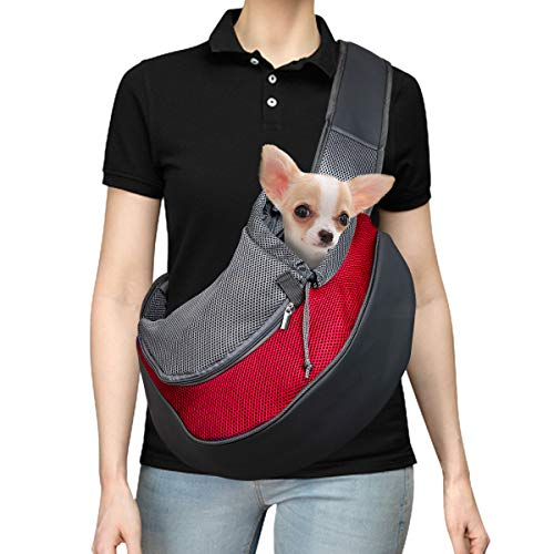 DMSL Hundetasche Tragetuch Hund Hundetragetasche Transporttasche Transportbox für Kleine Hunde und Katzen -um Ihr Tier sicher und komfortabel zu halten,Kann weniger als 2.5 kg tragen, 31x 24x22 cm