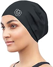 SOUL CAP - Large Swimming Cap for Long Hair | Designed for Long, Thick or Curly Hair | Adults, Kids and Children | Women & Men Silicone (Black)
