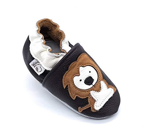 pantofole bambino leone LEPEPPE - Scarpine in Pelle Prima Infanzia - Pantofole Scarpine Babucce - Neonato - Nido - Materne Danza - Primi Passi Fino al 32/33!!! Leone (S (11