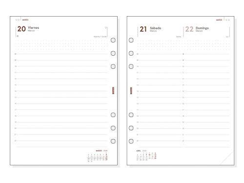 Finocam - Recambio Anual 2020 1 día página Open R1098 español, 1000-155x215 mm