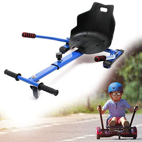 Wiltec Sitzscooter in Blau, Verstellbarer Kartsitz für Elektroscooter bis 120 kg
