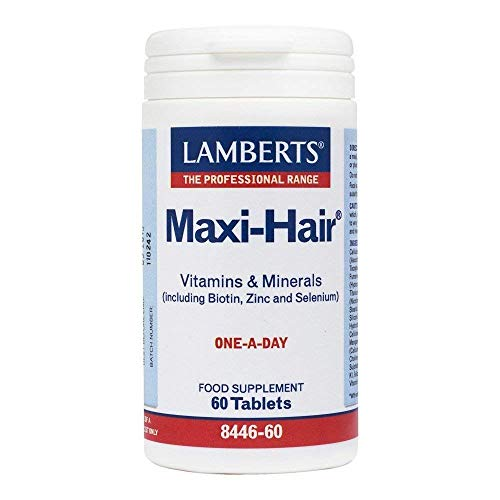 Lamberts Maxi Hair One A Day (A Comprehensive Multi Formula Providing Nutrients Relevant for Healthy Hair) 60 Tablets