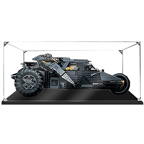 HYQX Teca Antipolvere Acrilico Vetrina per Lego 76240 Batmobile Tumbler,Casella di visualizzazione per Lego 76240 (Modello Lego Non Incluso) (3MM)