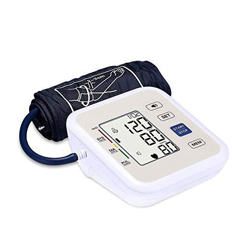 Qin Automatic Blood Pressure Monitor: Blood-Pressure Kit of Bp Cuff - Heartbeat Detector & Large Display, Heart Rate Pulse Monitoring Sphygmomanometer for Home