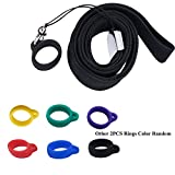 Anti-Loss Lanyard Silicone Necklace for Juu--ls or Similar Sized Pod Pens, Contain 3pcs Silicone Rubber, Pendant Holder Lanyard Keychain Keyring Cover Case, Device Not Included (Black)