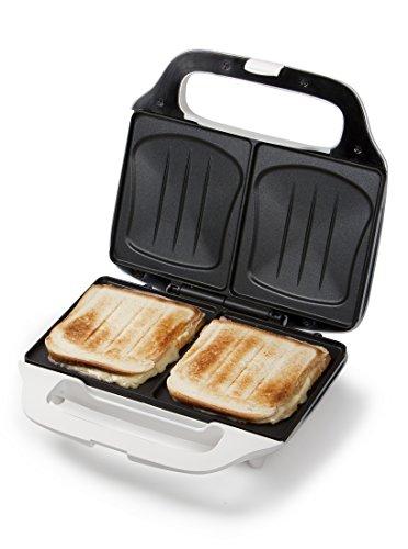 XL-Sandwich-Toaster, Dom-Sandwich Sandwichmaker Muschelform, 2 Sandwich-Toast gleichzeitig, starke 900Watt