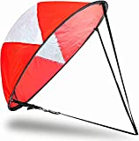 Veritovita 42 inches Downwind Wind Sail Kit Kayak Wind Sail Kayak Paddle Board Accessories,Easy Setup & Deploys Quickly,Compact & Portable (Red-New)