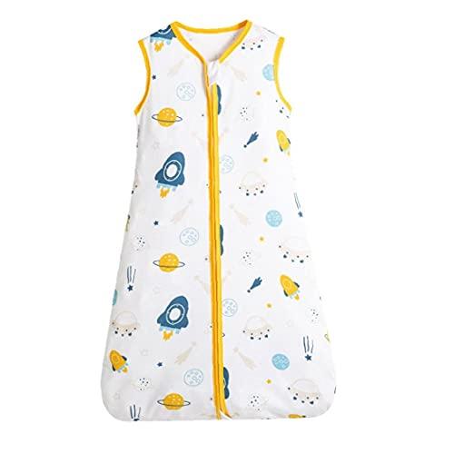 NIDONE Bolso de Dormir de Bebé de algodón sin Mangas de algodón Saco de Manta usable con Cremallera Style2 l