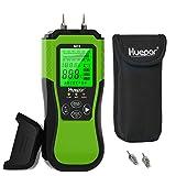 huepar misuratore di umidità del legno, 8 tipi di legno, con display lcd retroilluminato,2 modalità di misurazione,per l'ispezione dell'umidità di legno e materiali da costruzione m01