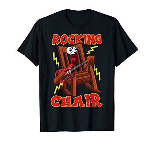 Schaukelstuhl Rock and Roll Pun Gitarre T-Shirt